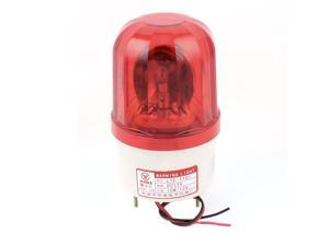 Unique Bargains Industrial DC 12V Red Flash Emergency Rotary Warning Lamp Signal Tower Light