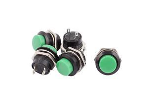 5pcs 16mm Thread Panel Mount SPST Momentary Pushbutton Switch AC 125V 6A 250V 3A