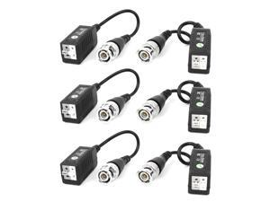 6 Pcs Cat5 Coaxial Cable BNC UTP Passive Video Balun for CCTV Camera