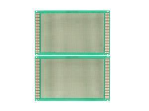 "2 Pcs FR4 Copper Prototyping PCB Board Stripboard 7.1"" x 4.7"""