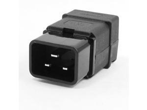 Unique Bargains 250VAC 16A Power Cable Cord Connector C20 Inlet Male Plug Black