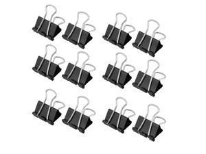 Global Bargains 32mm Wide Black Metal Doucument File Paper Binder Clip Clamp 12pcs