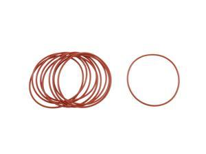 Global Bargains 10 Pcs Dark Red Silicone O Rings Oil Seal Gaskets Washers 68mm x 2mm