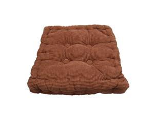 Home Office Corduroy Filled Soft Chair Cushions Thickened Seat Pad Coffee Color