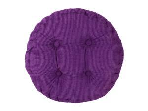 Home Office Corduroy Round Shaped Sofa Floor Chair Seat Cushion Pad Purple