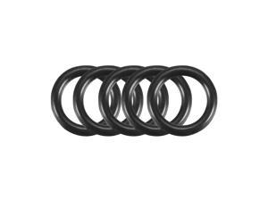 200Pcs Black O-Ring 8mm x 1.2mm BUNA-N Material Oil Seal Washers Grommets