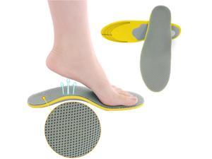 Pair Unisex Orthotic Foot Shoes Insoles Insert High Arch Support Pad Pain Relief