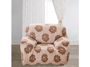 Home Polyester Flower Pattern Elastic Sofa Chair Cover Slipcover 35-55 Inch