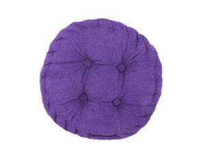 Home Corduroy Round Shaped Thickened Pillow Seat Chair Cushion Pad Mat Purple