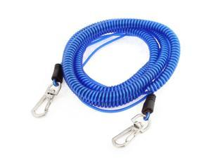 26Ft Long Stretchy Coiled Fishing Lanyard Rope Safety Cord Double Lobster Hook