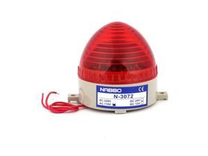 Industrial AC 110V Mini Red LED Blinking Warning Light Flash Signal Tower Lamp