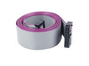 2.54mm Pitch IDC 20-Pin F/F Connector Extension Flat Ribbon Cable 148cm Length