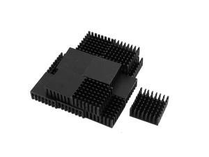 15Pcs 25mm x 25mm x 10mm Aluminum Heatsink for LED Power IC Transistor Black