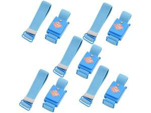5 Pcs Blue Anti Static ESD Discharge Cordless Wrist Strap Band
