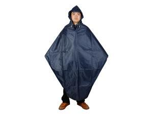Vinyl Blue Raincoat Poncho for Adult Bicycle Rider (XL Size M1003)