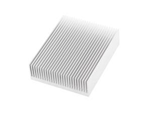 Silver Tone Aluminium Radiator Fin Heat Sink 150x80x27mm