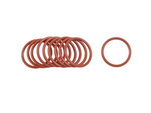 Unique Bargains 10 Pcs 38mm OD 3mm Thickness Silicone O Rings Oil Seals Gasket Dark Red