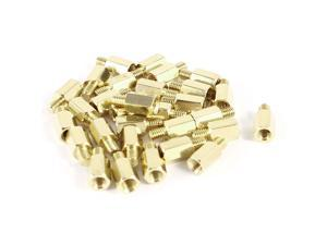 Unique Bargains 30 Pcs PCB Motherboard Standoff Hex Spacer Screw Nut M3 Male 4mm to Female 7mm