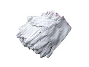 20 x PC Computer Working Working Anti Static Wht Gloves