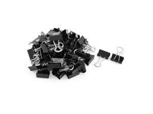Metal Desk Paper Document Stationery Binder Clips 20mm 60 Pcs Black
