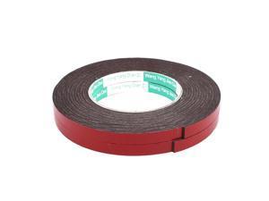 2pcs 10mm x 2mm Car Vehicle Self Adhesive Shock Resistant Foam Tape 5M Length