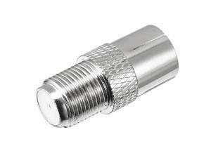 Silver Tone BSP F Female to PAL Female Jack RF Coaxial Adapter Connector