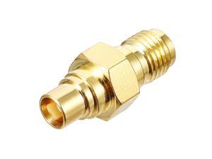 Gold Tone SMA Male to MCX Female Jack RF Coaxial Adapter Connector 1000V