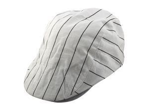 Stripe Pattern Newsboy Duckbill Ivy Cap Traveling Driving Flat Beret Hat  White 9d39906c00a9