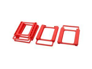 """Laptop Plastic 2.5"""" to 3.5"""" SSD HDD Screwless Installing Adapter Bracket Hard Drive Frame Holder Red 4pcs"""