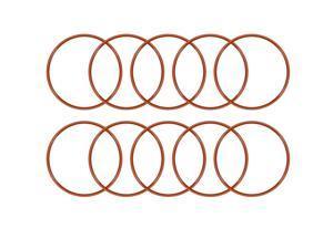 Silicone O-Ring 40mmx36.2mmx1.9mm VMQ Seal Rings Sealing Gasket Red 10PCS