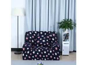 Stretch Sofa Cover Chair Loveseat Couch Slipcover, Machine Washable, Stylish Furniture Protector with One Cushion Case (1 Seater, Style 12)