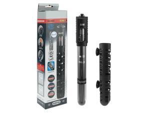 US Plug AC 110-120V 50W Quartz Glass Submersible Heater Fish Tank Thermometer