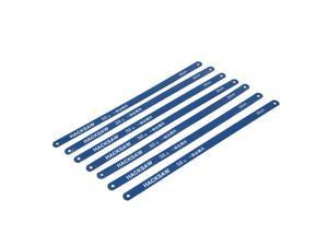 Unique Bargains 6 Pcs 250mm Working Length Carbon Steel Power Hacksaw Blades Blue 12mm x 0.6mm