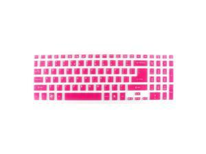 Unique Bargains Laptop Dustproof Protector Film Keyboard Cover Fuchsia Clear for Acer M3-581T