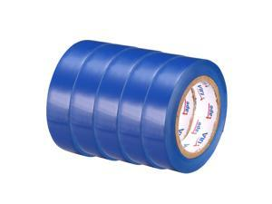 "Insulating Tape ,PVC Electrical Tape,  Single Sided, 5/8"" Width, 39ft Long, 6 mil Thick, Blue, 5pcs"