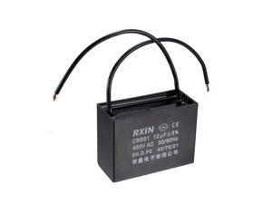 CBB61 Run Capacitor 500V AC 12uF 2-wire Metallized Polypropylene Film Capacitors for Ceiling Fan