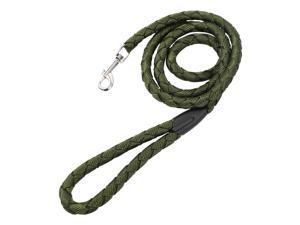 Dog Pet Leash Rope Nylon 6 Feet Padded Handle Rope Leashes Dog Walking Training Leash for Medium Large Dogs M Size Army Green