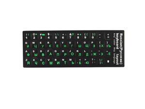 Desktop Laptop Russian Keyboard Decal Protector Large Letters Sticker Green