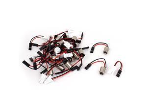Unique Bargains 40 Pcs BA9S T10 LED Light Bulb Adapter Cable Cord Socket for Automobile Car