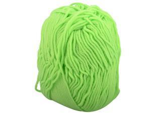 Acrylic Fiber Handmade Sweater Scarf Knitting Yarn Cord Rope Light Green 50g