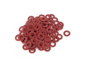 100Pcs 3 x 6 x 0.5mm Fiber Motherboard Insulating Washers Red