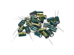 20pcs Aluminum Radial Electrolytic Capacitor Low ESR Green 10uF 250V Life 3000H 8 x 12 mm High Ripple Current,Low Impedance