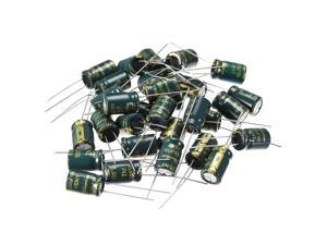 Aluminum Radial Electrolytic Capacitor Low ESR Green with 680UF 10V 105 Celsius Life 3000H 8 x12 mm High Ripple Current,Low Impedance 30pcs