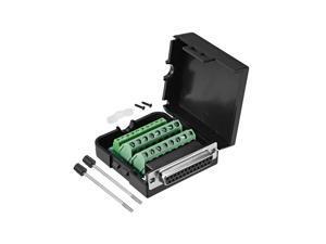 DB25 D-SUB Female 25Pin Plug Breakout PCB Board 2 Row Terminals Connector4H