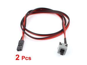 ATX PC Computer Motherboard Switch On/Off/Reset Power Cable 2Pcs