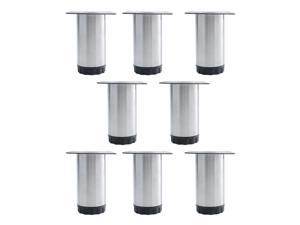 4 Inch Furniture Leg Stainless Steel Sofa Table Cabinet Wardrobe Worktop Shelves Feet Replacement Height Adjustable Set of 8
