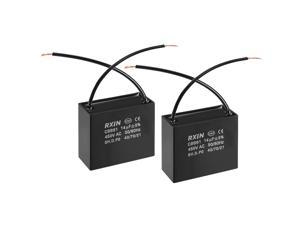 CBB61 Run Capacitor 450V AC 14uF 2 Wires Metallized Polypropylene Film Capacitors for Ceiling Fan 2pcs