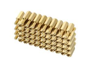 Unique Bargains 80pcs M3 10+6mm Female Male Thread Brass Hex Standoff Spacer Screws PCB Pillar
