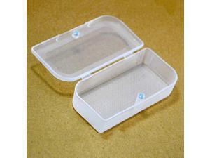 Magnetic Closure Plastic Earphone Case Box Holder Container Clear 5 Pcs
