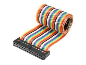 1pcs 2.54mm Pitch 14 Pin Wire 1ft Rainbow Color IDC Flat Ribbon Cable Connector